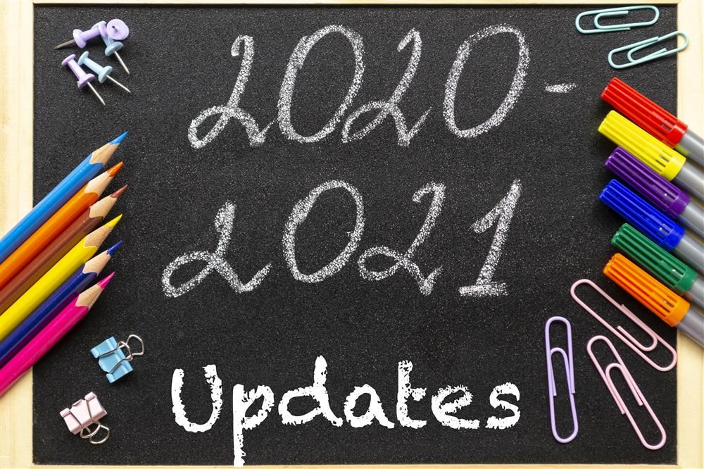 2020-2021 School Year Updates